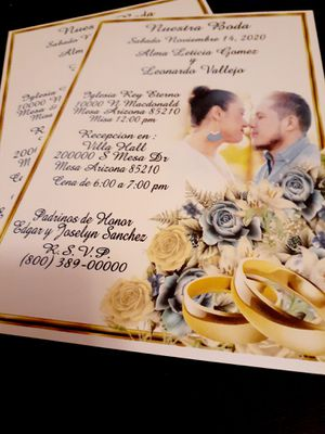 🥰 Invitaciones Boda y mas for Sale in Phoenix, AZ
