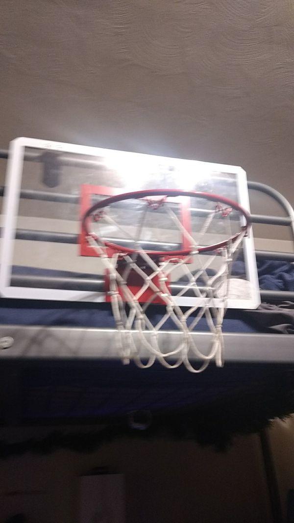Indoor basketball ball hoop