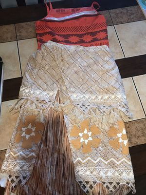 Moana girls costume size 13 for Sale in Downey, CA