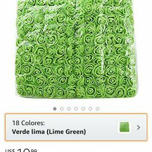 13 Zorpia Mini fake roses flowers 144 pieces for wedding, party, wedding, party, home decoration (lime green) for Sale in Brooklyn, NY