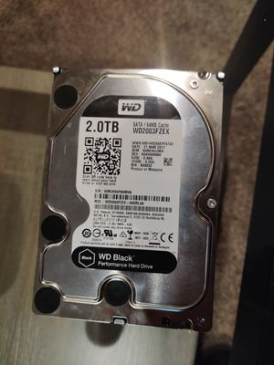 2 TB WD 7200 RPM Hard Drive for Sale in Portland, OR