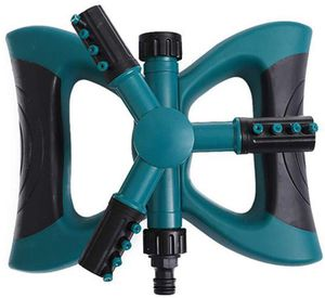 RLQ Lawn Sprinkler 3 Arm with Impact Sprinkler, Portable Automatic 360 Degree Rotating, Adjustable Large Area, for Garden Water Sprinkler Lawn Irriga for Sale in Philadelphia, PA