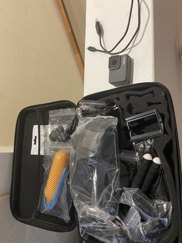 GoPro hero 7 with tons of accessories