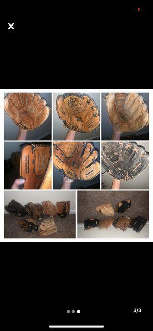 Softball / baseball gloves for Sale in Phoenix, AZ
