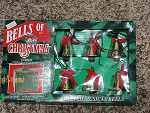 1994 Mr. Christmas Brass Bells of Christmas Music Lights 6 Piece String in Box for Sale in Mesa, AZ