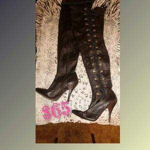 Genuine Leather Thigh high Boots❤ Side Lace up for Sale in Glendale, AZ