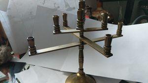 Hanukkah candelabra solid brass for Sale in Las Vegas, NV