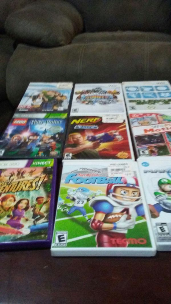 9 wii games for $45