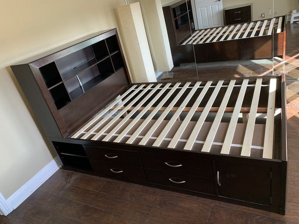 Beautiful Queen bed with storage and nightstand