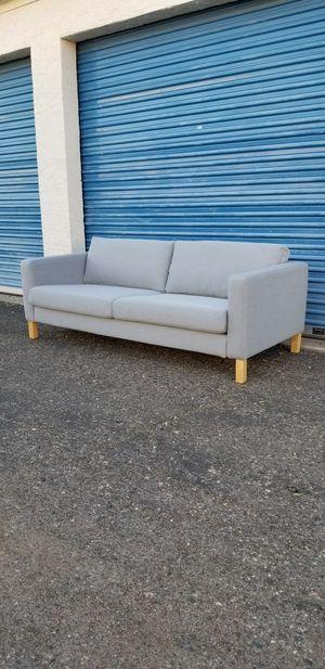 "IKEA Karlstad sofa - Light Gray Measures approx: 81"" wide x 35"" deep x 26"" tall. for Sale in Phoenix, AZ"