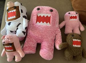 5 Domo Plushie stuffed animals for Sale in Lakewood, CA