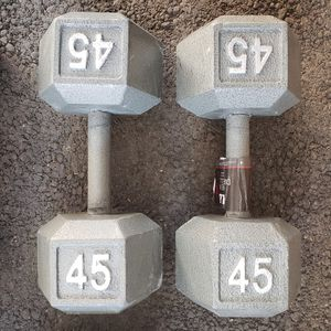 A Pair 45lbs Iron Hex Dumbbell ( New In Box) for Sale in San Jose, CA