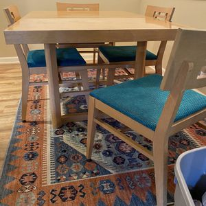 MCM Gorgeous Blonde Table With Extender And 4 Chairs for Sale in Lake Oswego, OR