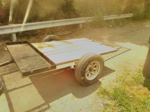 225.00 Home made trailer, pulls great. I made this trailer for hauling motorcycles and lawn equipment.I just need something a little bigger. for Sale in Indianapolis, IN