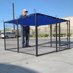 "New 48"" Tall x 32"" Wide Panel Heavy Duty 8 Panels Dog Playpen Pet Safety Fence Adjustable Shape and Space (blue tarp not included) for Sale in Whittier, CA"
