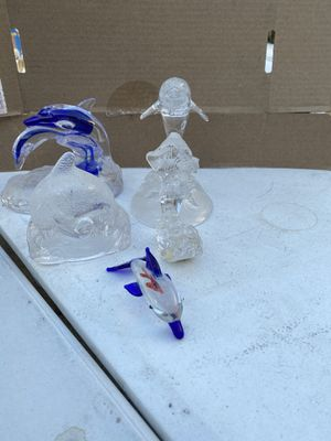 Five glass dolphins collectibles for Sale in Anaheim, CA