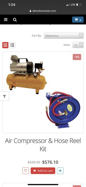 Tow truck wrecker Air compressor and hose and reel for Sale in Douglasville, GA