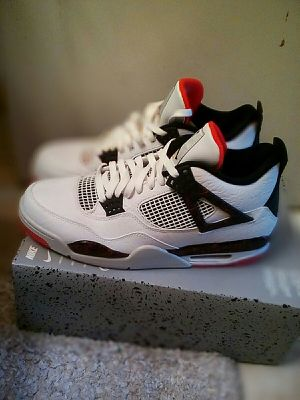 Air Jordan 4 Retro white and black size 12 for Sale in San Leandro, CA
