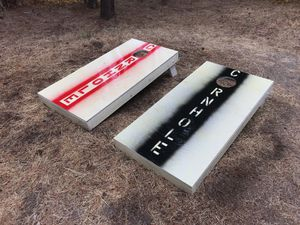 Official size cornhole tables custom hand-made for Sale in Bend, OR