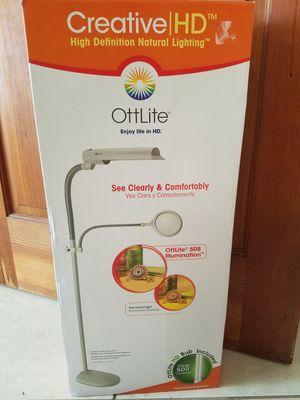 Price Reduced CreativeHD OttLite W9437T-SHPR 18-watt Easy View Floor Lamp, for Sale in Spring Valley, CA