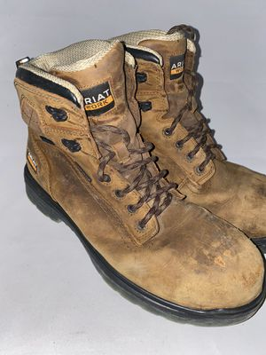 Men Preowned Ariat Steel Toe Shoelace Boot Size 10ee for Sale in San Diego, CA