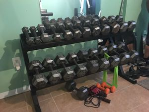 Full dumbbell set for Sale in Beltsville, MD