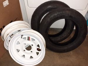 "Set of 2- 12"" Tires & Rims Brand New for Sale in Buena Park, CA"
