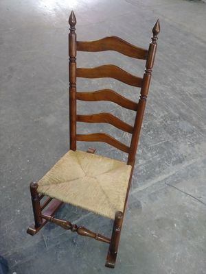 Antique hand cane Rush rocking chair rocker for Sale in North Las Vegas, NV
