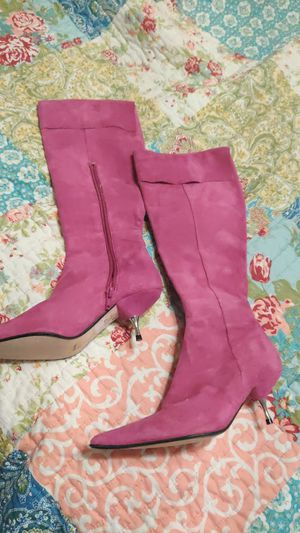 Steve madden pink boots 7 for Sale in Deer Park, TX