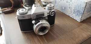 Zeiss Ikon in Leather Case w/ Camera Bag, 2 Lens, 1 Camera Book for Sale in Inman, SC