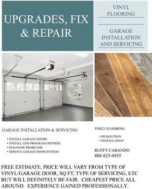 Vinyl flooring and garage door services for Sale in Uniontown, OH