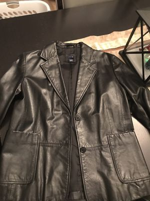 Women's black leather jacket- size 12 from the Gap. for Sale in Ashburn, VA