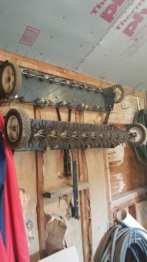 Lawn mower seeder and rake attachments for Sale in Monroe Township, NJ