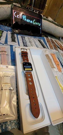 Apple watch 5th gen 44mm SILVER Bluetooth GPS + Cellular LTE unlocked for Sale in Phoenix,  AZ