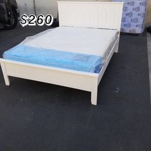 FULL BED FRAME W/ MATTRESS INCLUDED for Sale in South Gate, CA