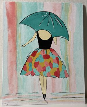 Handmade 8x10 water colour canvas painting for Sale in Washington, DC