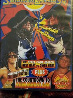 Wwf Summerslam 1994/w Preshow Dvd for Sale in Chicago,  IL