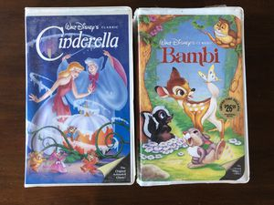 Set of VHS Disney movies. Black Diamond Editions. for Sale in Los Angeles, CA