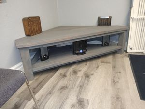 Custom made rustic corner table for Sale in San Diego, CA