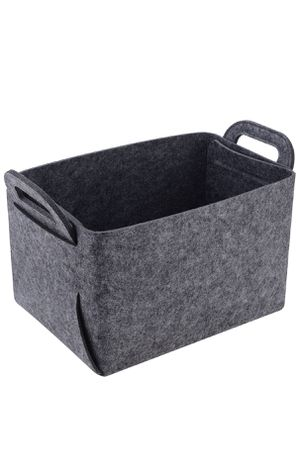 Storage Basket Felt Storage Bin Collapsible & Convenient Box Organizer with Carry Handles for Office Bedroom Closet Babies Nursery Toys DVD Laundry O for Sale in Pomona, CA