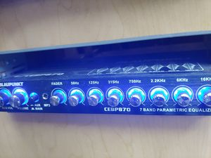 Car audio system : Blaupunkt 7 band equalizer 7v rms ( brand new price is lowest shipping available ) for Sale in Santa Ana, CA