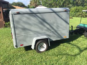 5' x 8' Enclosed Trailer with Rear Barn Door for Sale in Coconut Creek, FL