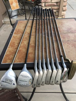 10 righty Golf Clubs $45 ! Irons drivers Putter TW wedge for Sale in Corona, CA