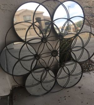 "Mirror wall decor wrought iron accent home decor 28"" diameter for Sale in Peoria, AZ"
