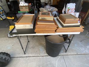33 different sizes of picture frames. Some are wood for Sale in Huntington Beach, CA