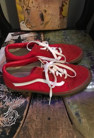 Mens 9.5 Red Vans for Sale in Woodway, WA