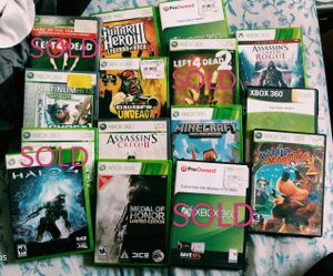 Xbox 360 game lot all tested and working (can sell individually for $10) for Sale in Austin, TX