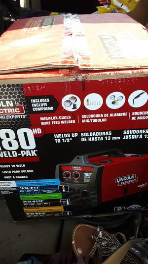 180 Pro MIG welder by Lincoln Electric brand new in the box for Sale in Marysville, WA