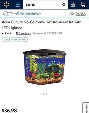 6.5 Gallon Fish Tank w/ LED lighting for Sale in Knoxville, TN