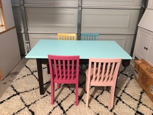 Kids craft table with chairs for Sale in Chula Vista, CA